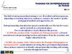 training for entrepreneurship in france