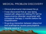 medical problem discovery