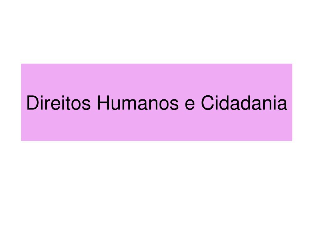 direitos humanos e cidadania l.