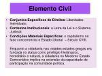 elemento civil