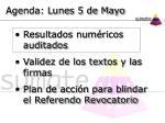 agenda lunes 5 de mayo