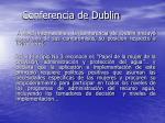 conferencia de dublin