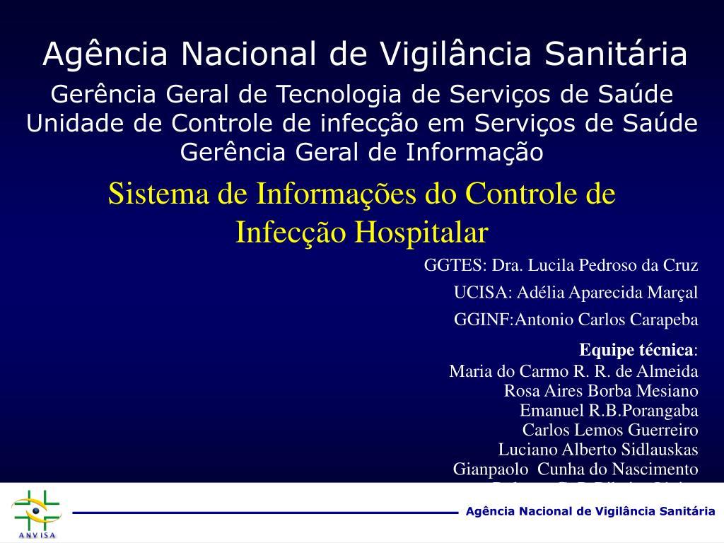 sistema de informa es do controle de infec o hospitalar l.