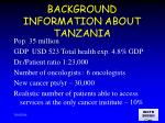 background information about tanzania