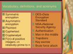 vocabulary definitions and acronyms