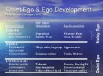 quiet ego ego development adapted from loevinger 1976 1993