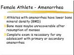 female athlete amenorrhea
