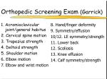 orthopedic screening exam garrick