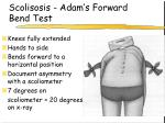 scolisosis adam s forward bend test