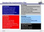 standard site implementation plan