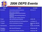 2006 deps events