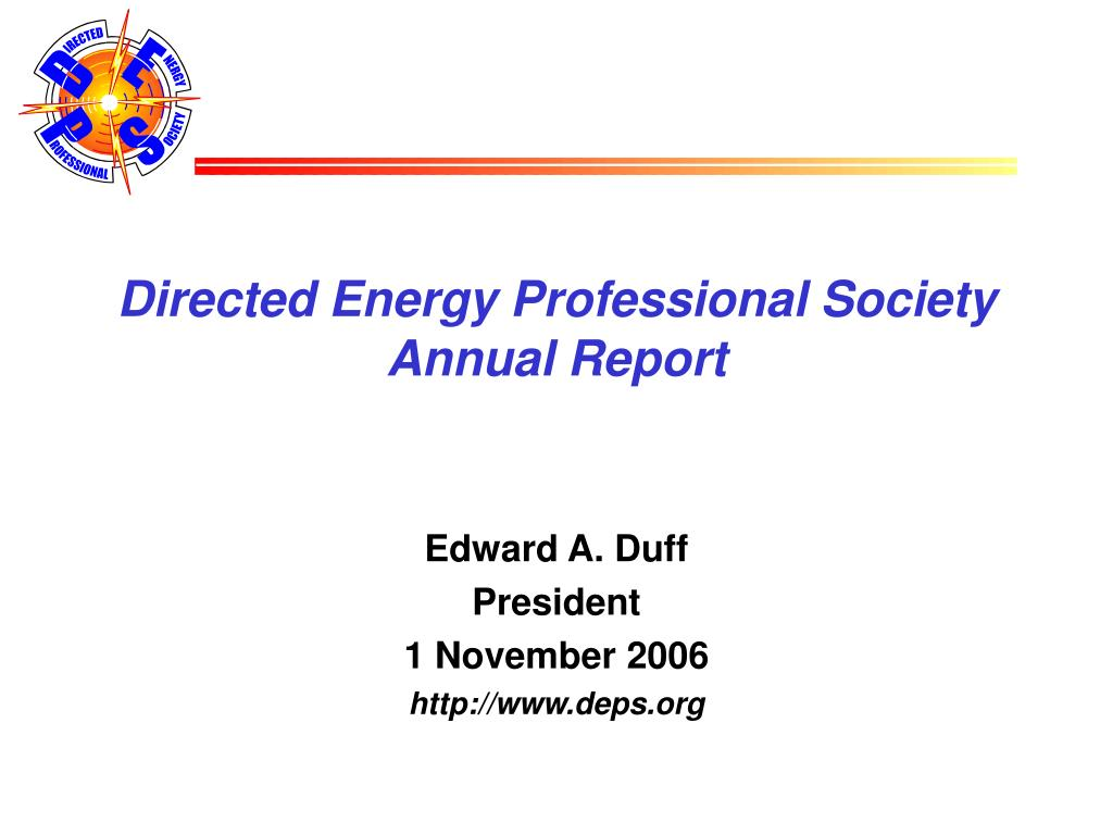directed energy professional society annual report l.