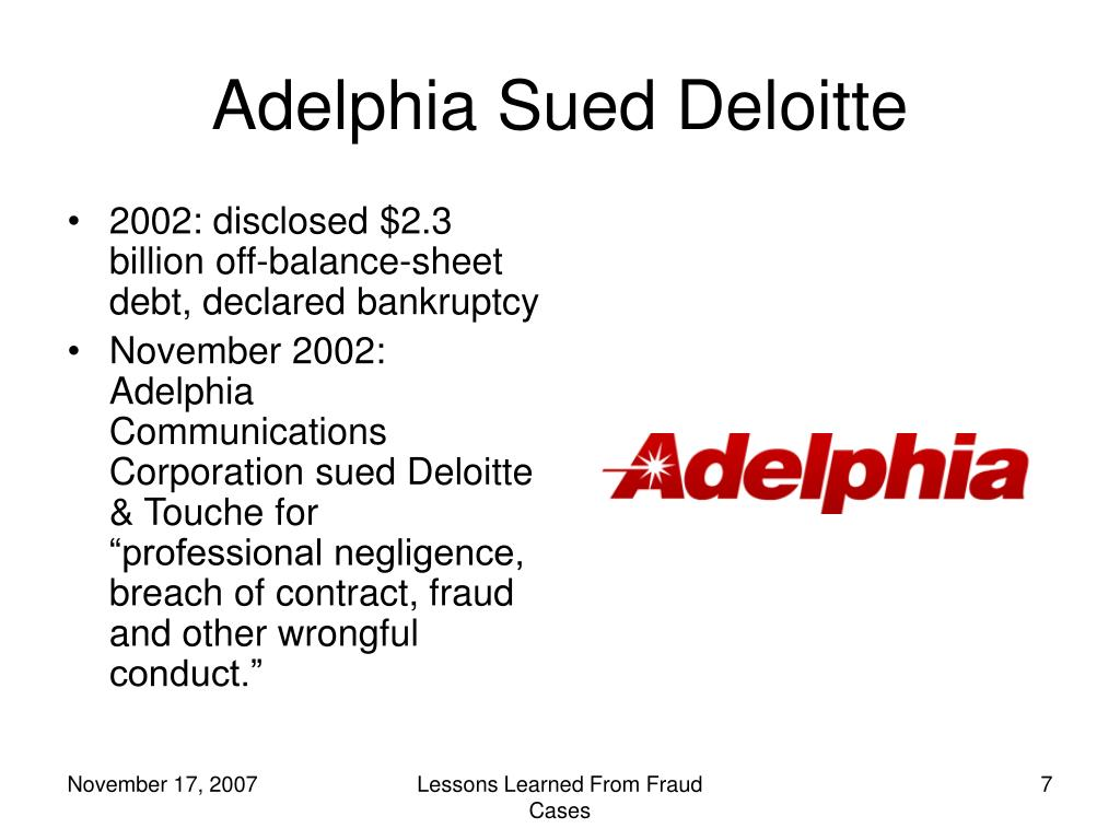adelphia fraud Senator sarbanes intentions were good and it create an oversight that would deter financial fraud adelphia's stock price adelphia communications corporation.