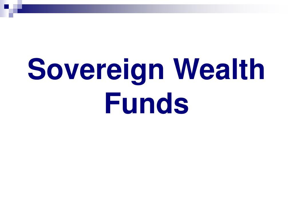 sovereign wealth funds l.
