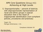 apr core questions group 2 achieving at high levels35