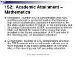 1s2 academic attainment mathematics