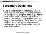 secondary definitions7