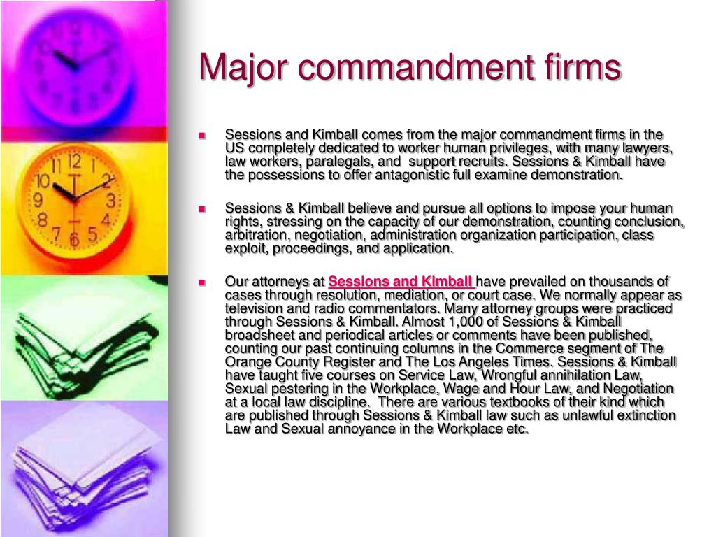 major commandment firms l.