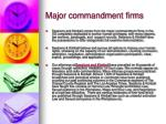 major commandment firms