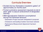 curricula overview