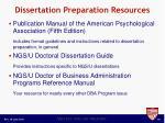 dissertation preparation resources
