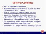doctoral candidacy