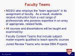 faculty teams