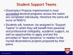 student support teams