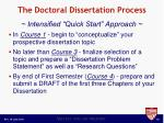 the doctoral dissertation process