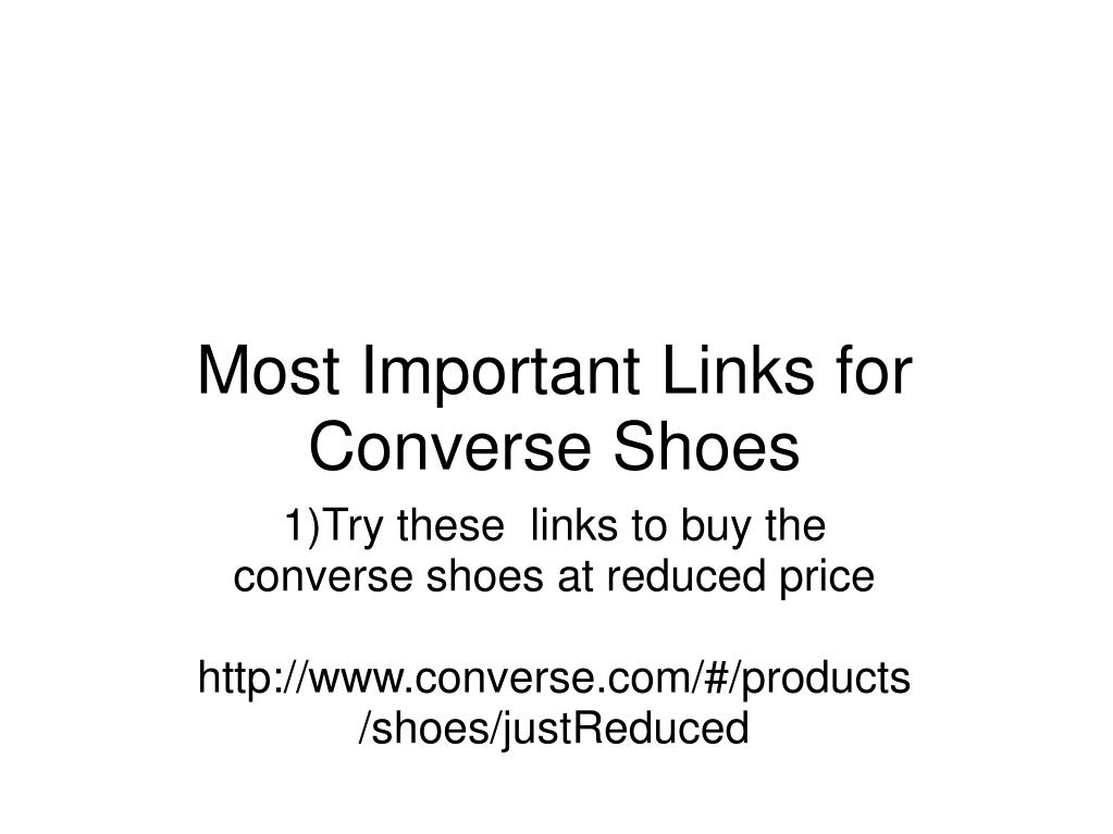 most important links for converse shoes l.