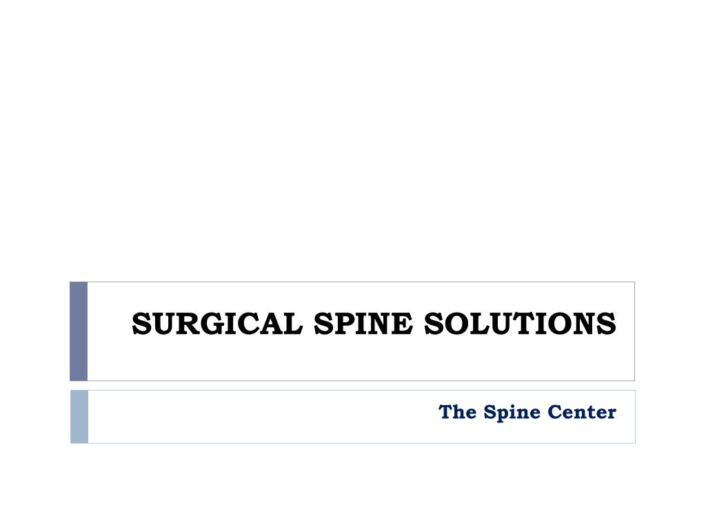 surgical spine solutions l.