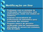 notifica o on line