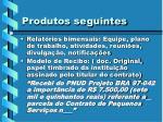 produtos seguintes