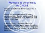 processo de constitui o da cndss