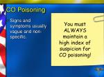 co poisoning