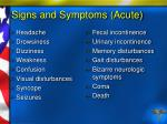 signs and symptoms acute84