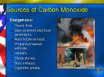 sources of carbon monoxide7