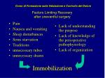 factors limiting recovery after uneventful surgery