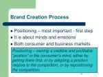 brand creation process
