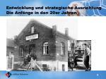 entwicklung und strategische ausrichtung die anf nge in den 20er jahren