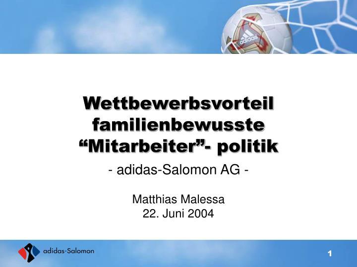 """Wettbewerbsvorteil familienbewusste """"Mitarbeiter""""- politik"""