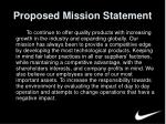 proposed mission statement