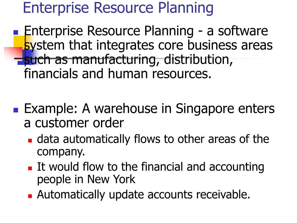enterprise resource planning l.