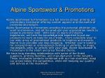 alpine sportswear promotions