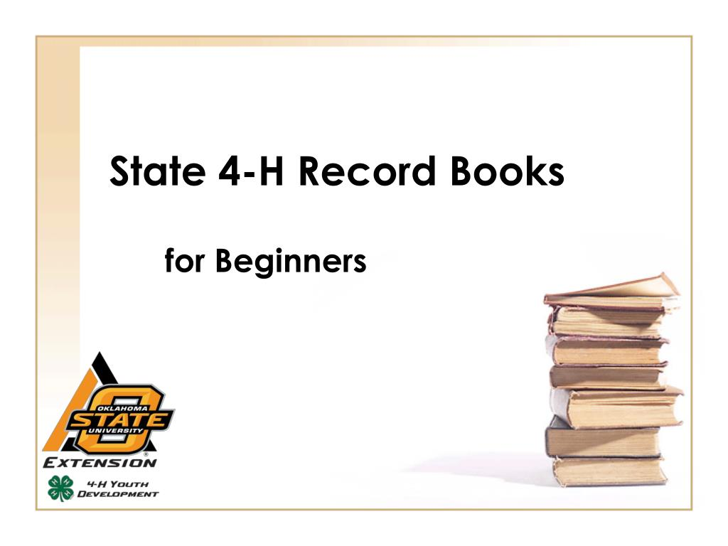 State 4 H Record Books L