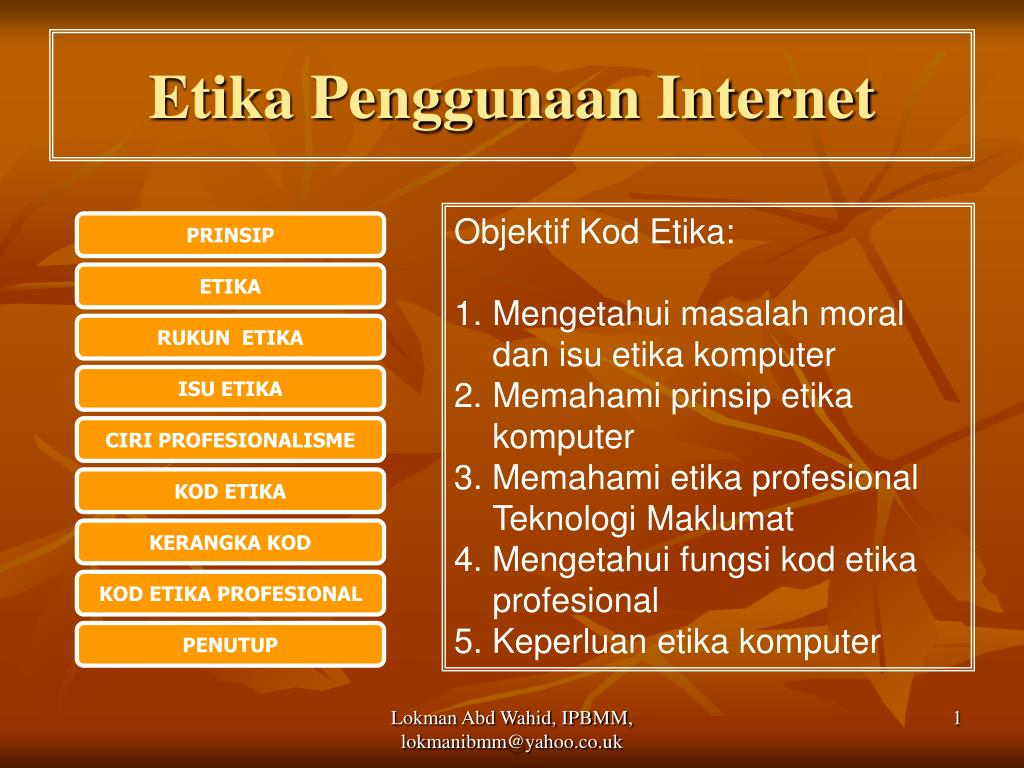 etika penggunaan internet l.