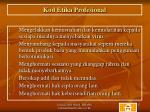 kod etika profesional