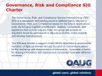 governance risk and compliance sig charter