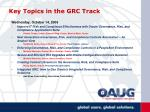 key topics in the grc track12