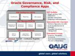 oracle governance risk and compliance apps
